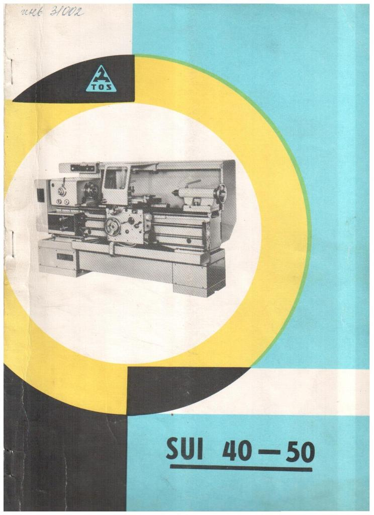 Паспорт станка SUI 40(50)